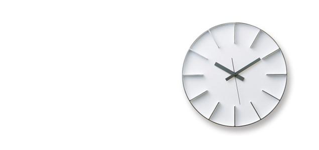 安積伸・安積朋子 edge clockφ18(ホワイト) [ デザイナーズ ウォールクロック:AZUMI ]
