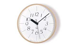 [渡辺力/リキワタナベ]lemnos レムノス/riki clock(リキクロック)電波時計/掛時計 細字M [渡辺力/リキワタナベの壁掛け 電波時計リキクロック]