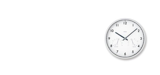 Lemnos/電波時計・温湿度計/Air clock   LC09-11W<br>【楽ギフ_包装選択】
