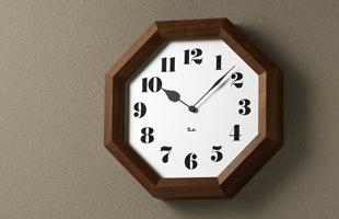 Lemnos/掛時計/渡辺力/八角の時計  WR11-01<br>