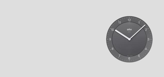 BRAUN/掛時計・壁掛け時計/BNC006GYGY-NRC グレー