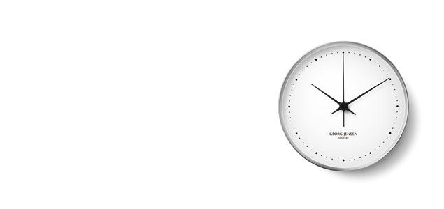 Georg Jensen ジョージ ジェンセン/HK CLOCK WHITE/STEEL Φ30cm