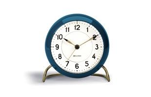 アルネ ヤコブセン/置時計/STATION ステーション/ブルー [ 北欧ヤコブセンの置き時計はSTATION/ステーション ]
