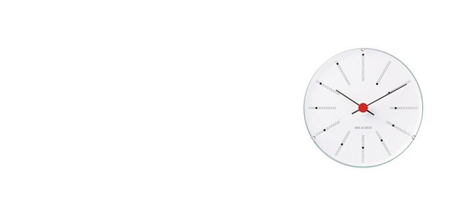 北欧 アルネヤコブセン Bankers 掛け時計 ウォールクロック 120mm [ デザイナーズ ウォールクロック 北欧 ]