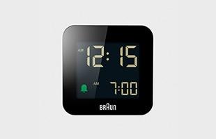 BRAUN ブラウン 置時計 BC08 BK