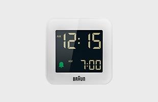 BRAUN ブラウン 置時計 BC08 WH