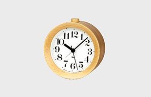 Lemnos/置き時計/RIKI Alarm Clock/ホワイト  WR09-14 WH