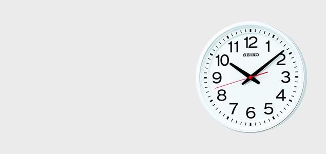 専用フォントで見やすいセイコーの衛星電波掛け時計「教室の時計/GP219W」