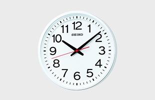 教室の時計/衛星電波時計/GP219Wは、フォントメーカーのフォントワークス株式会社と共同開発した誰にでも読みやすいフォントを使用しています