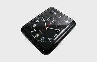 TWEMCO社 置時計 アラーム時計 BQ-12A ブラック
