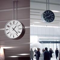 札幌駅時計/五十嵐威暢/腕時計|eki watch エキウォッチ/ブラック/バンド:ブラウン【祝 北海道新幹線 開通】