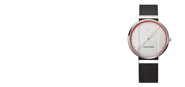 Jacob Jensen ヤコブ イェンセン|腕時計/New/ホワイト×オレンジ35mm