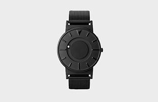 さわる時計 Bradley/MESH BLACK