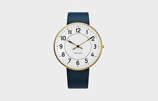 アルネ ヤコブセン 腕時計 STATIONφ40 53414-limited ネイビーバンド イメージ