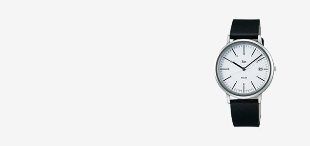 Riki Watch/AKPD021/シンプルモダンソーラー/ホワイト×ブラック