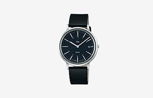 Riki Watch/AKPD022/シンプルモダンソーラー/ブラック×ブラック