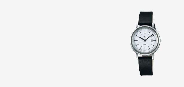 Riki watch シンプルモダンソーラー/ホワイト×ブラック AKQD028