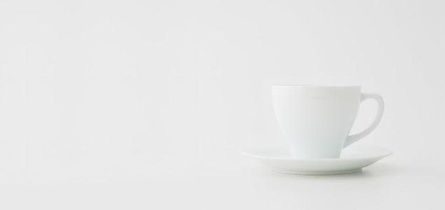 【熊本産】柳宗理/白磁/手付きカップ&ソーサー[手付きカップのみ][ 熊本産アイテムのご購入で被災地を応援 ]