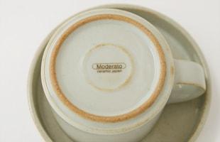 カップ&ソーサー/セラミックジャパン/モデラート Moderato [北欧 風/カップ&ソーサーはセラミックジャパン/モデラート]