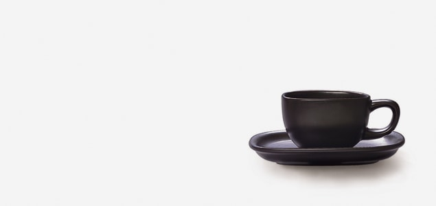 柳宗理/セラミック/カップ&ソーサー/コーヒーカップ&ソーサー/ 黒