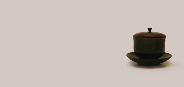 山中漆器/たに屋/茶托付き湯呑 内金箔