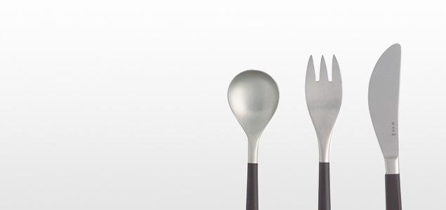柳宗理 sori yanagi/cutlery/黒柄 カトラリー/シュガーレードル [柳宗理 soriyanagi の黒柄カトラリー/cutlery]