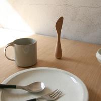 伊藤千織デザイン/og/バターナイフ(木製)[バターケース(木製)に、バターナイフ(木製)]<br>
