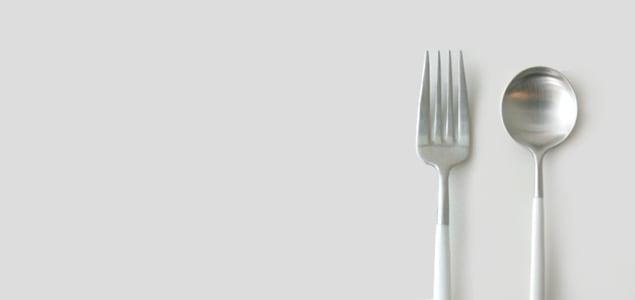 cutipol クチポール/GOA ホワイト/デザートスプーン [cutipol クチポール GOAのカトラリー デザートスプーン/おしゃれなフォーク・ナイフ・スプーン]