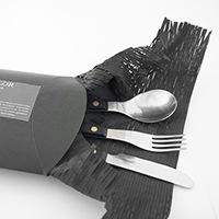 David Mellor / provencal blackのデザートスプーン、デザートナイフ、デザートフォークが同梱されているセットになります