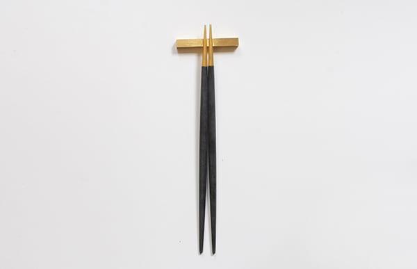 Cutipol クチポール 箸 GOA ブラック×ゴールド お箸セット