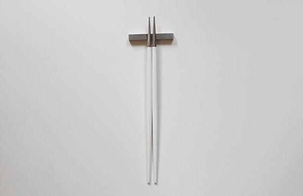 Cutipol クチポール 箸 GOA ホワイト×シルバー お箸セット