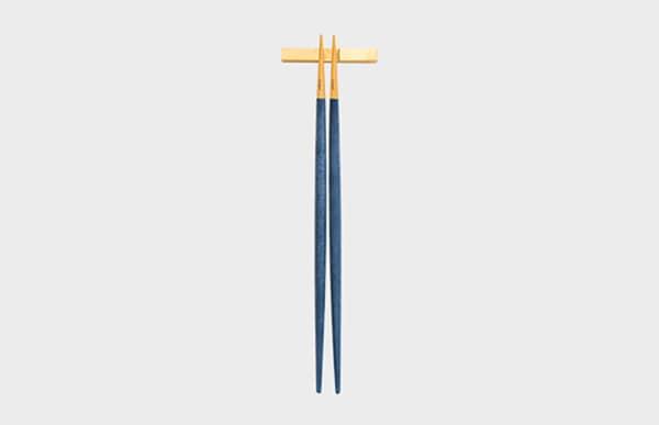 Cutipol クチポール 箸 GOA ブルー×ゴールド お箸セット