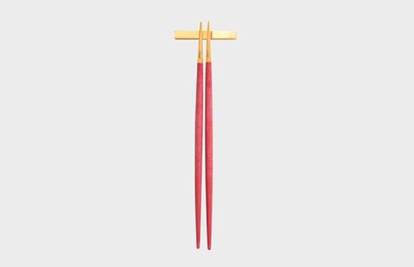 Cutipol クチポール 箸 GOA レッド×ゴールド お箸セット