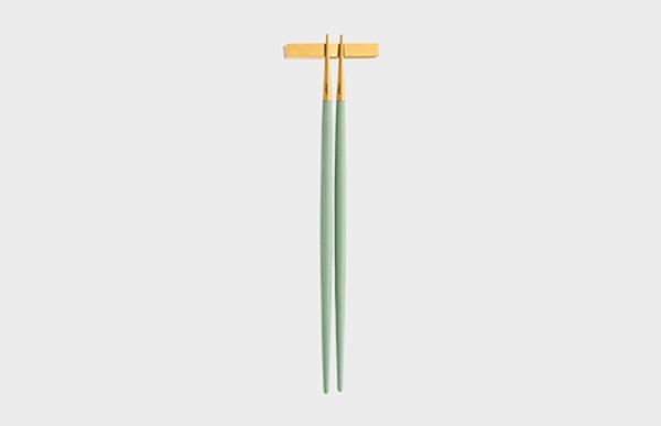 Cutipol クチポール 箸 GOA セラドン×ゴールド お箸セット