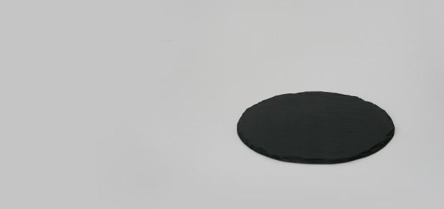 宮城 雄勝石/SUZURI 硯石プレート/ラフ丸皿 [北欧風 おしゃれ 硯石プレート/丸皿/北欧は雄勝石]