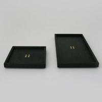 秀衡塗/HIDEHIRA/長方形プレート 黒/角皿 茶托 スクエア