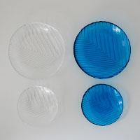 森正洋/ガラス皿/深皿 [素麺(そうめん)はガラスの器で/ガラス器で素麺(そうめん)]
