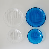 森正洋/ガラス皿/手塩皿/小皿 [しょうゆ皿 にはガラスの小皿/しょうゆ皿 豆皿 醤油皿]