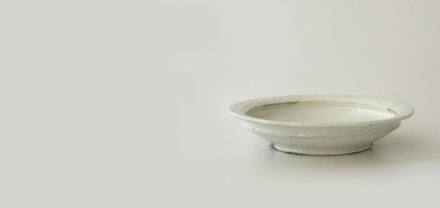 陶房金沢/てまる 粉引 カレー皿 [てまる 粉引き カレー皿は陶房金沢]