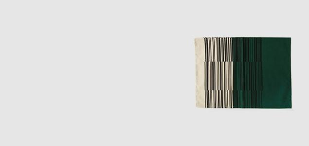 柳宗理 ファブリック/ランチョンマット/バーコード柄 ブラウン B [柳宗理/ファブリック/ランチョンマットはバーコード柄]【ネコポス対応可】[ネコポス便 1/4]