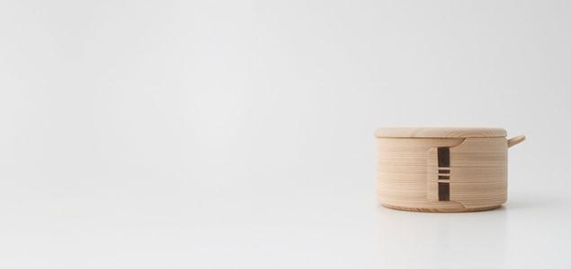 マゲワ/バターケース 丸(バターナイフ付)