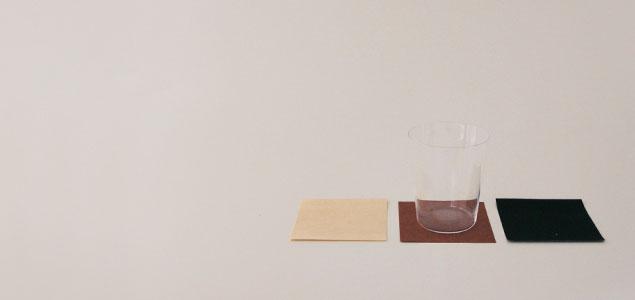 東山和紙/コースター(おしゃれ 北欧 風)松墨染め 5枚 セット/洗える撥水加工 [コースター(おしゃれ 北欧 風)は東山和紙]【メール便対応可】[M便 1/50]