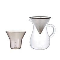 KINTO キントー/SLOW COFFEE STYLE コーヒーカラフェ・ドリッパーセット/ステンレス 300ml [ フィルター不要のコーヒードリッパーセットはKINTO ]