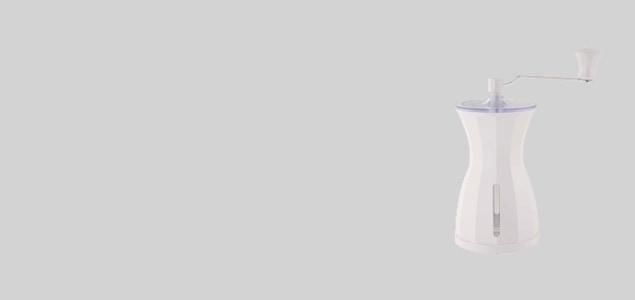 貝印 カイハウス  ザ・コーヒーミル スノーホワイト [ 手動のセラミックコーヒーミル ]