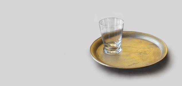 FUTAGAMI フタガミ/鋳肌トレイ/お盆 丸[FUTAGAMI フタガミの丸型トレイ/お盆]