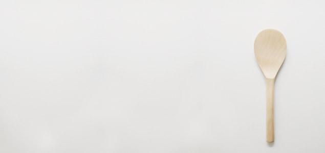 宮島杓子(しゃもじ)/新型 杓子/クワ  [ 杓文字 木 ]