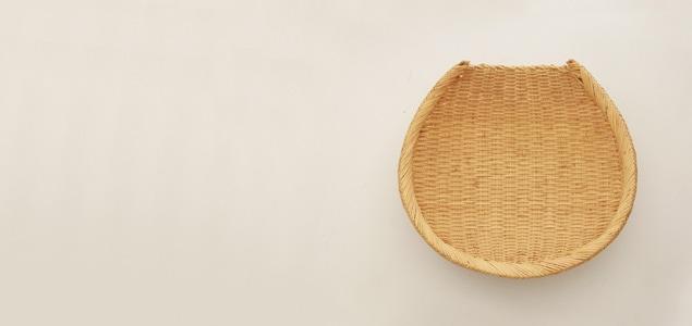 そば ざる/蕎麦 皿|岩手 鳥越 竹細工|米あげ笊 Φ35 [そば ざる/蕎麦 皿は岩手 鳥越 竹細工]