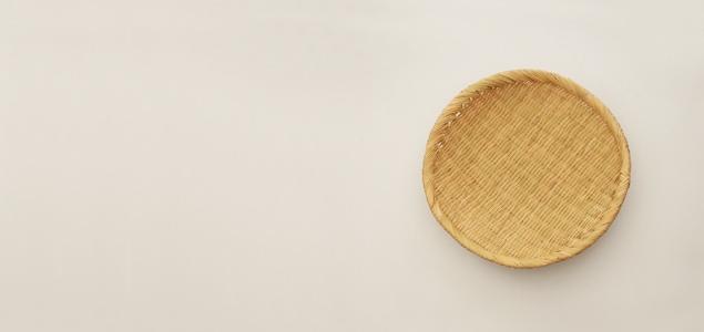 そば ざる/蕎麦 皿|岩手 鳥越 竹細工|丸笊 18cm [そば ざる/蕎麦 皿は岩手 鳥越 竹細工]