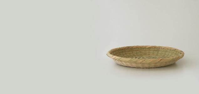 そば ざる/蕎麦 皿|山梨 富士|スズ竹細工 丸ざる 29cm [そば ざる/蕎麦 皿はスズ竹細工]