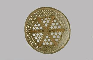 国産 真竹 椀かご 丸型 底面は補強がされています